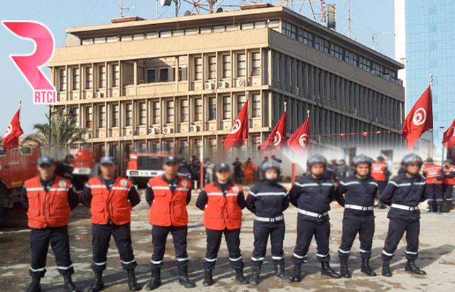 Les 15 agents de la protection civile de Sfax arrivent devant le ...