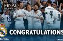 Le Real Madrid vainqueur de la Ligue des Champion