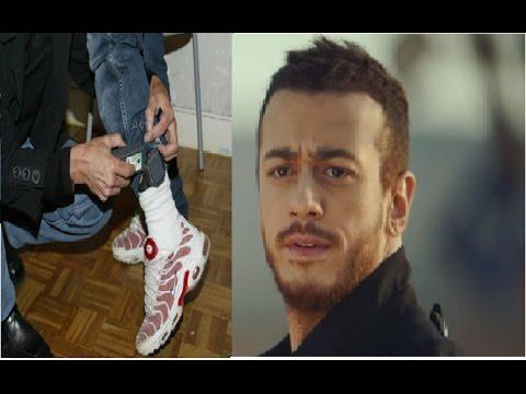 Saad lmjared a été libéré avec bracelet électronique qu'il porte autour du pied