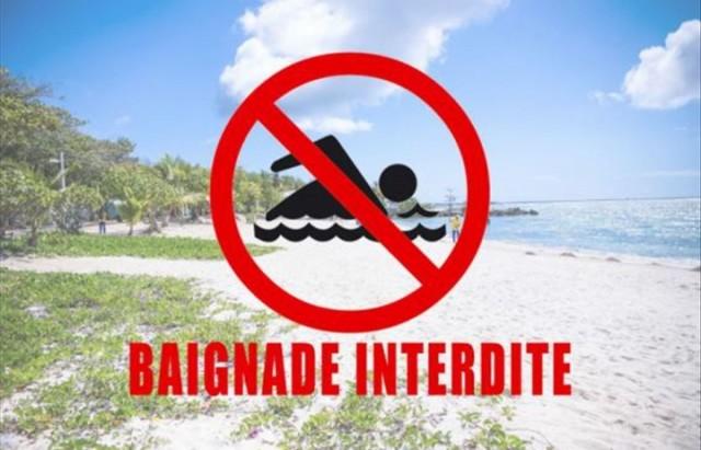 plages interdites à la baignade