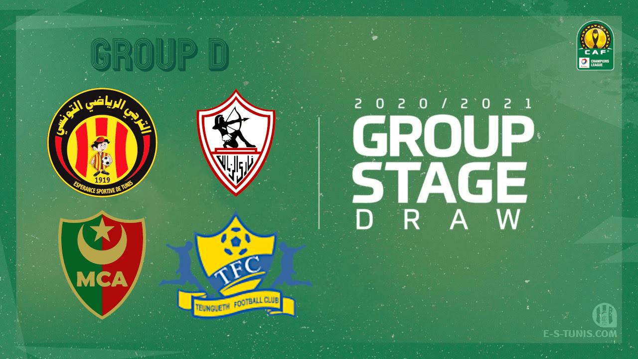 Espérance de Tunis dans le Groupe D avec Zamalek, MC Alger et Teungueth du Sénégal