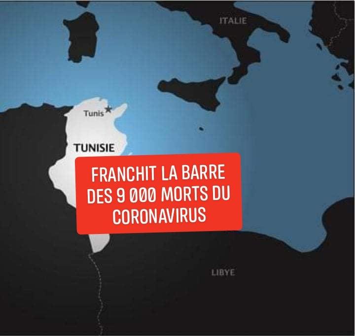tunisie morts corona
